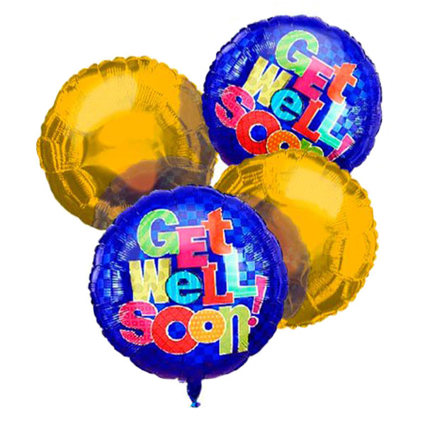 Get Well Balloon Bouquet (4) buy at Florist