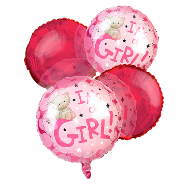 """It's a Girl"" Balloon Bouquet (4) buy at Florist"