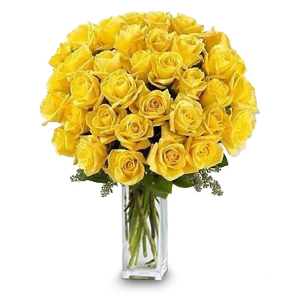 36 Long Stemmed Yellow Roses buy at Florist