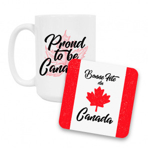 Canada Day Coffee Mug and Coaster Set III buy at Florist