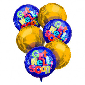 Get Well Balloon Bouquet (6) buy at Florist