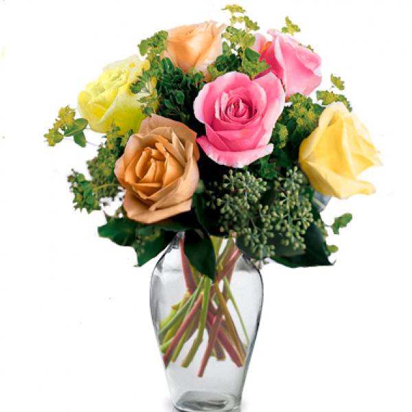 Half Dozen Mixed Roses buy at Florist