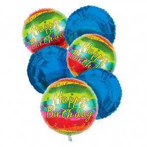 Happy Birthday Balloon Bouquet (6) buy at Florist