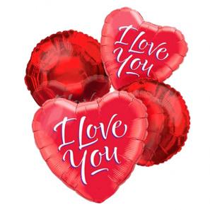 """I Love You"" Balloon Bouquet (4)"