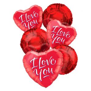 """I Love You"" Balloon Bouquet (6)"