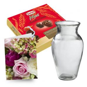 Large Chocolates, Vase & Card