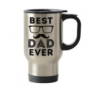 Stainless Steel Travel Mug 16 oz Best Dad Ever