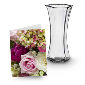 Vase & Card buy at Florist